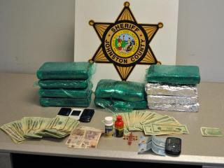 Officers manning a drunken driving checkpoint on U.S. Highway 70 in Princeton on May 12, 2012, discovered 10 kilograms of cocaine worth $ 1million stuffed in a car, according to the Johnston County Sheriff's Office.