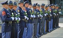 Wake County paused Wednesday to honor law enforcement officers who have been killed in the line of duty, as part of national Peace Officers Memorial Week. (photo courtesy of the Raleigh Police Department)