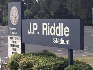J.P. Riddle Stadium is home to the Fayetteville SwampDogs baseball team.
