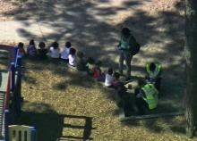 Students and teachers were evaluated by emergency personnel outside Foundations Academy.
