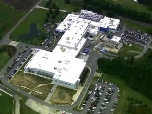 Johnston County emergency crews respond to a hydrochloric acid leak at Novo Nordisk Tuesday, June 5, 2012.
