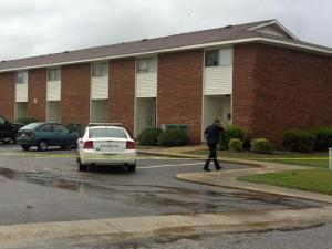 A 25-year-old man was shot inside an apartment at Cambridge Arms in Fayetteville Monday afternoon, police said.