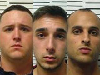 Jhaden Davis, 21,Joseph Pirrotta, 24, and Brandon Smallwood, 23