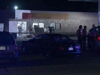A man was shot Thursday night at a convenience store southwest of Raleigh, according to Wake County Sheriff Donnie Harrison.