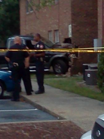 A man drove his car into the Oak Creek Ridge Apartments in Durham.