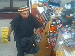 Lillington police are looking for this armed robbery suspect captured on security video.