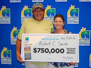 Lottery winners Robert C. and Peggy Smith
