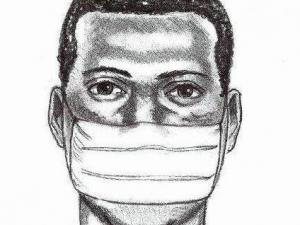 Sketch of the man from the Cary Police Department.