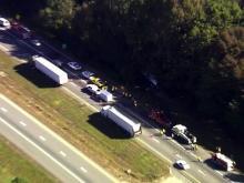 Sky 5: I-95 crash scene