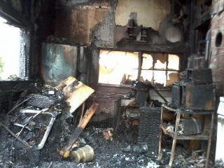 A man died Saturday evening in a fire that started in the kitchen of a home at 4034 Weaver Road in Wilson, firefighters said. (Photo courtesy of WITN)
