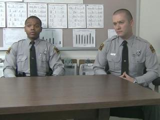 Troopers J.J. Garrett and J.T. Mitchell