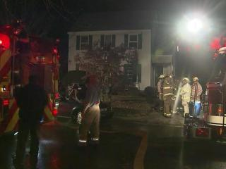 A man was badly burned Monday evening when fire tore through a Raleigh home, authorities said. Two men were home when flames erupted around 8:30 p.m. in a downstairs bedroom of a two-story house at 4121 Cobble Court.