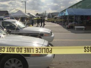 Two men were shot at the Durham Green Flea Market, 1600 E. Pettigrew St., around 1 p.m. Sunday, Dec. 9, 2012.