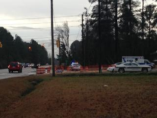 The Wake County Sheriff's Office investigates a shooting in southern Apex early Monday, Feb. 17, 2012. (Photo by Tara Lynn)