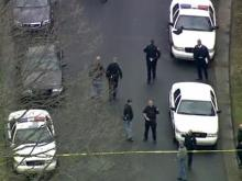 Sky 5: Search for suspect in Durham police shooting
