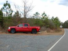 Lee County sheriff's deputies released this photo of shooting victim Robert Devitto's red Chevrolet truck. They are asking for information about other vehicles they believe were parked next to the truck.