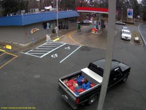 Enfield police are looking for the owner of this truck, which was used to haul gasoline purchased with a fraudulent credit card.