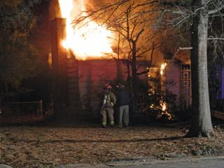 One person died early Friday after a home caught fire in Aberdeen, police said. (Photo courtesy Aberdeen Times)