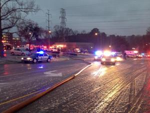 A fire broke out at the Mission Valley Apartments complex in Raleigh on Jan. 25, 2013.