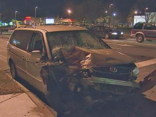 Three small children and three adults were injured Friday in a two-car crash in Raleigh, police said.