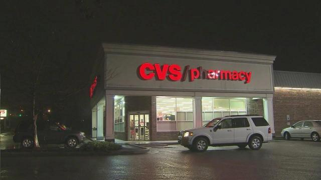 A car hit the CVS at 3051 New Bern Ave. in Raleigh Friday evening