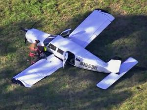 A plane crashed Wednesday afternoon in a field on Rod Sullivan Road in Sanford, authorities said.