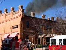 Viewer video of Durham restaurant fire