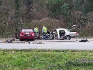 Two people were killed and a third was seriously injured in a two-car collision on Wade Avenue in Raleigh on March 17, 2013, police said.