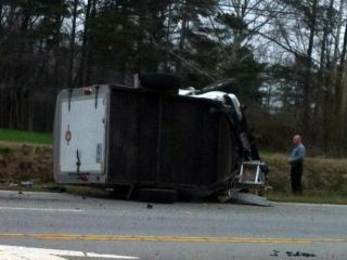 Two people were killed in this crash near Campbell University in Harnett County on March 18, 2013. (Photo courtesy of Rhonda Page)