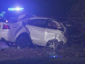 Two died when this car hit a tree late Tuesday night in Raleigh.