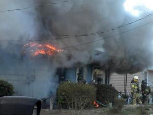 No injuries were reported when a house burned this morning at 935 Fleetwood Drive.