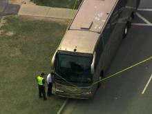 A Campbell University freshman was hit by a charter bus near campus in Harnett County Thursday afternoon, according to a university spokeswoman.