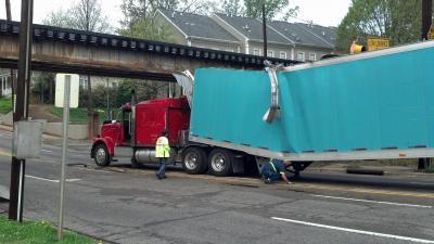Peace Street bridge crash
