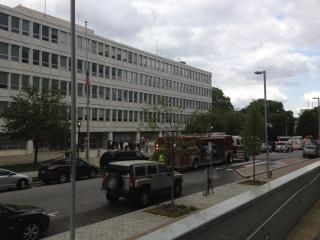 The state Department of Administration building, at 116 W. Jones St. in Raleigh, was evacuated Thursday afternoon due to reports of a suspicious package.