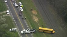 SKY5 took this image of a bus accident Friday afternoon.