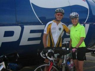 """Chris Mangum's hobby was biking, his sister said, but """"people were his passion."""" (Facebook photo courtesy the Mangum family)"""