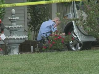 Raleigh police officers investigate after a child was hit by a vehicle Saturday afternoon.