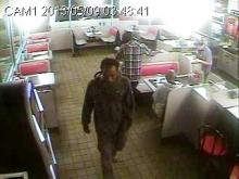 Fayetteville police are looking for the man in this surveillance image in connection with the May 9 assault on a woman at her home.