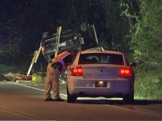 Two people died early Wednesday after a 2004 Jeep Cherokee was involved in two wrecks while traveling eastbound on Shaw Mill Road northwest of downtown Fayetteville, police said.
