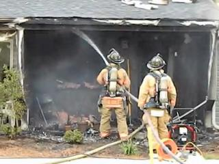 Fire tore through an apartment on Magnolia Drive in Aberdeen Thursday evening, but no one was injured, authorities said.