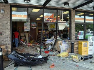 Two people suffered minor injuries on July 1, 2013, when they were hit by a car that rammed into Sandhu's gas station, at 1225 Amelia Church Road in Clayton.
