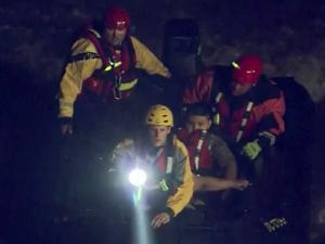 A woman and her son were rescued Monday night from the Deep River in Chatham County after their canoe capsized.