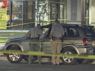 Two people were shot Monday night at a shopping center on N.C. Highway 87 near Plantation Drive in Harnett County, authorities said.