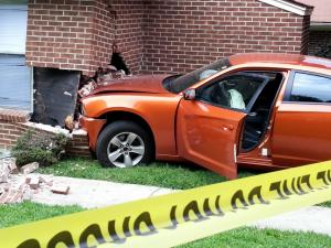 A car plowed into an apartment on Poole Road in Raleigh Tuesday afternoon