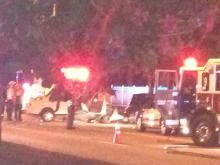 A head-on collision closed lanes on Raleigh's Millbrook Road Friday evening.