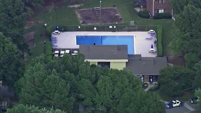 At the Spring Forest Apartment Homes, on Sedgewick Drive off Spring Forest Road in the northeast quadrant of the city, first responders treated a person on the pool deck.