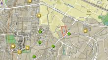 Map of burglaries and robberies near the Western Manor Apartments, student housing for NC State.