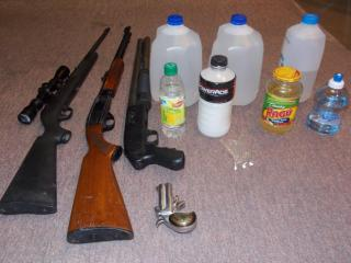Halifax County sheriff's deputies seized these items from a home in Scotland Neck.