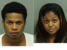 Elaton Omar White, left, and  Jacquelin Bann are accused of holding a teen in a Raleigh hotel and selling her for sex.