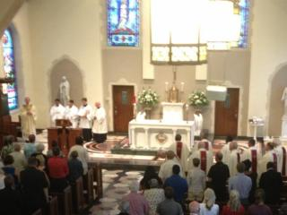The Noon Mass on Aug. 13, 2013, was offered in honor of Bishop F. Joseph Gossman, who led the Diocese of Raleigh for 31 years.